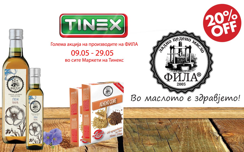 Акција во сите маркети на Тинекс, голем попуст на производите од Лен